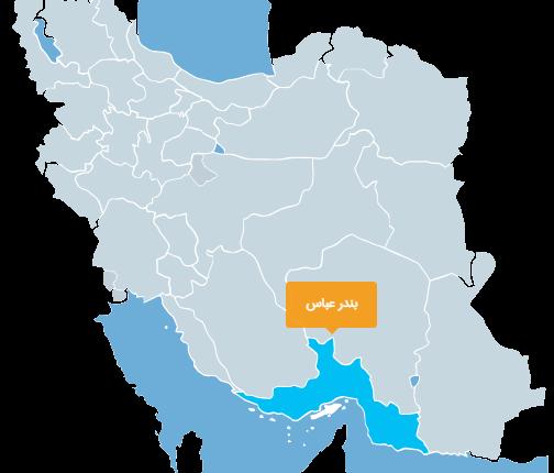 نقشه ایران-بندرعباس